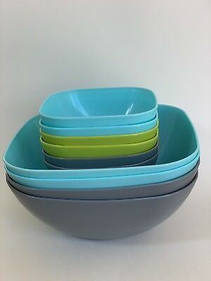 10 Piece Durable Pasta / Cereal / Salad Bowl Set .5 L/1.9 L Reusable & BPA Free