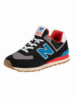 New Balance Men's 574 Suede Trainers, Black