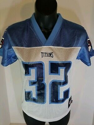 Titans #32 Pacman Jones NFL Football Jersey Youth Small PRE OWENED NFL aparrel