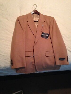 New - SAVILE ROW - Two Button 100% Camel Hair Blend Men's Sport Coat - Size 44  ()