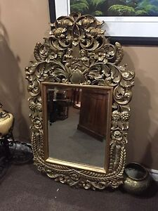 Large gorgeous carved wood mirror