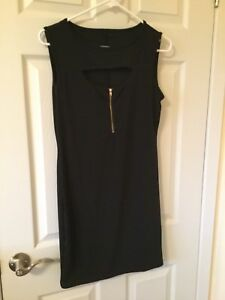 Black Body Con Dress with Cutout