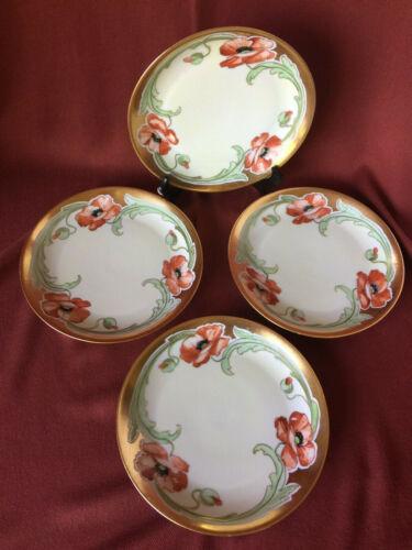 Hutschenreuther Bavarian Porcelain Poppy Plates