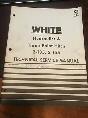 White 2-135 2-155 Hydraulics Three Point Hitch Service Repair Manual