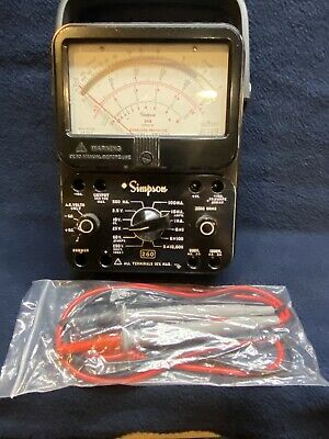 Simpson 260-8 Multimeter New Set Of Leads Excellent Condition Tested