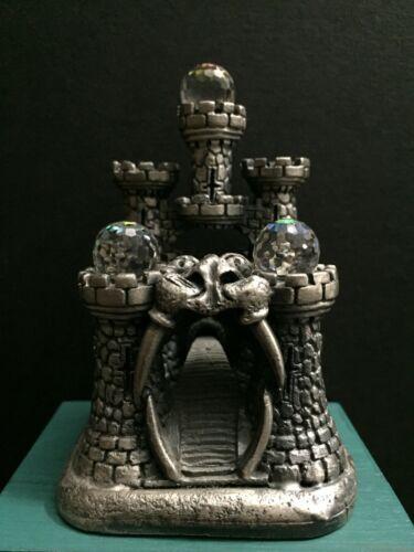 VTG Tudor Mint WAPW Pewter Metal Dragon Gateway Portal Castle Miniature Figurine