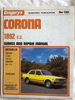 Gregory's Toyota Corona Service and repair manual. 1892 cc Comboyne Port Macquarie City Preview