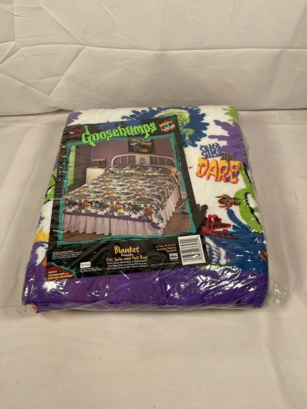 NEW Vintage Goosebumps Blanket 1996 Full/Twin 72 X 90 Inches Finished Size Felt