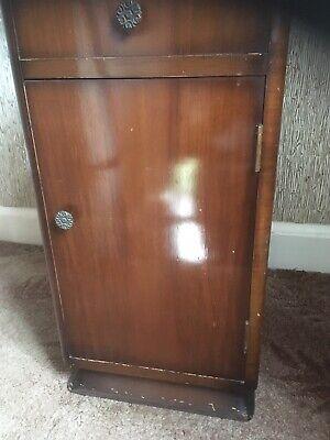 1960 Bedside Cabinet. Supersuite Productions 1960. Walnut veneer. used.