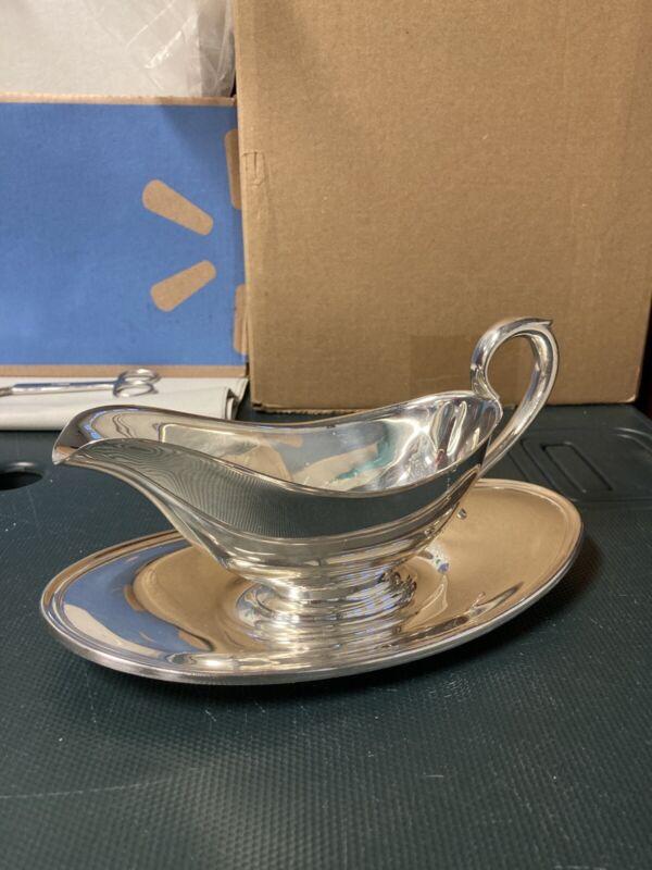 gorham silverplate gravy boat