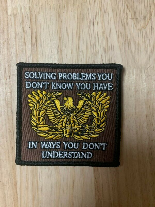"Warrant Officer Eagle Rising ""Solving Problems"" Hook Back Merrowerd Morale Patch"