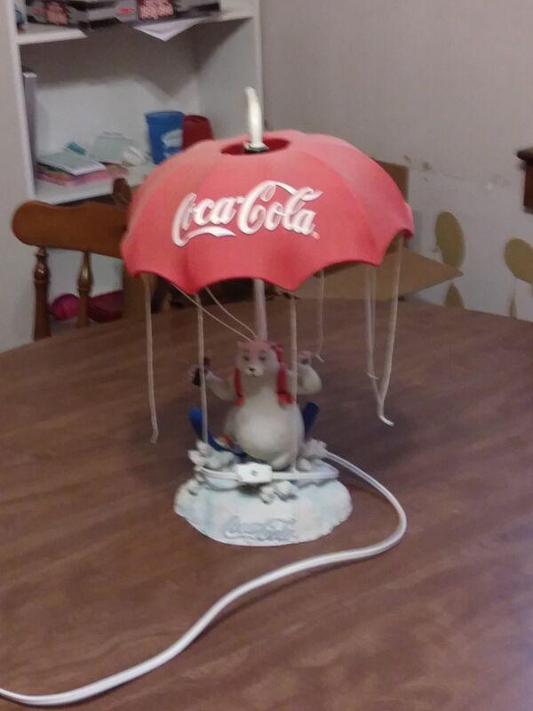 coca cola polar bear lamp