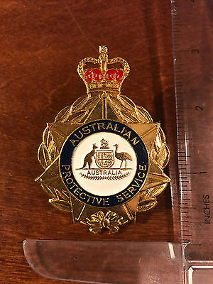 AUSTRALIAN PROTECTIVE SERVICE BADGE OBSOLETE/Dept defunct Australia Police Badge