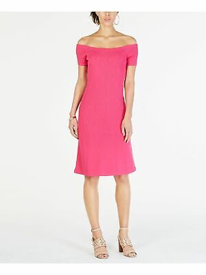 MICHAEL KORS $195 Womens New Pink Knit Off Shoulder Dress XS B+B
