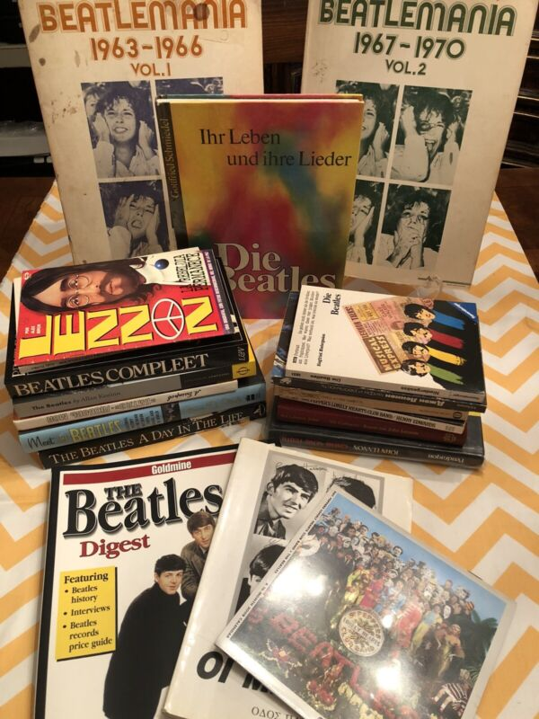 The Beatles Large Book Lot Various Language Years Mixed Lot of 19 Lennon Music