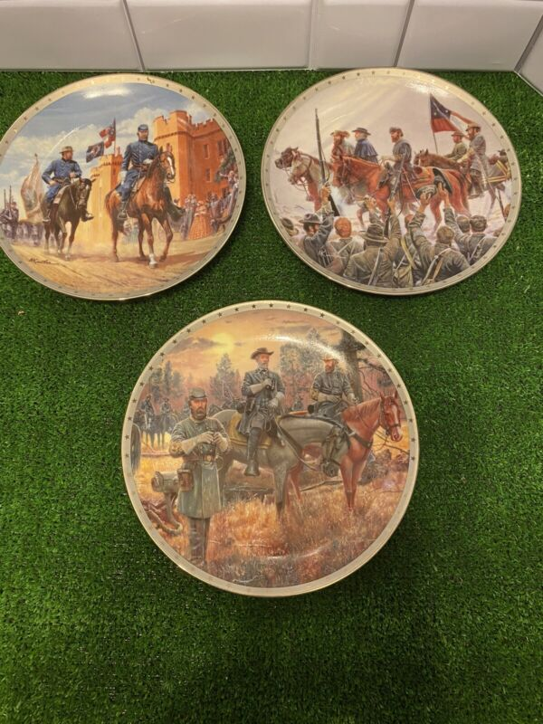 Lot of 3 Heroes of the Confederacy Collectors Plates