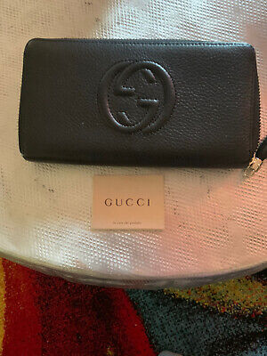 Gucci Soho Black Zip Around Wallet -  Pre-owned