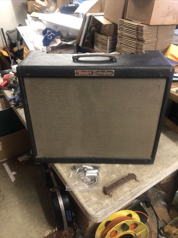 1956 Fender Twin guitar Amp Amplifier 50 Watt Very Rare RARE LOOK SE8 3 Digit S#