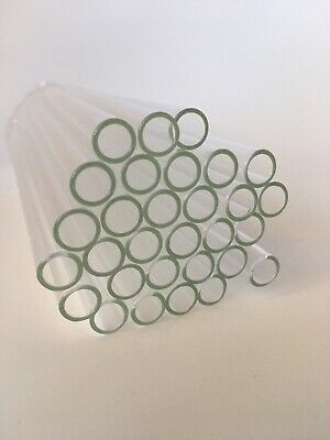 30 Pieces 8long 10 Mm Od 8 Id Clear Glass Pyrex Blowing Tubes 1mm Thick Wall