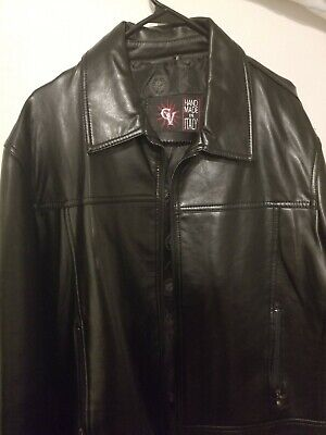 Gianni Versace Leather Jacket Men (Medium)