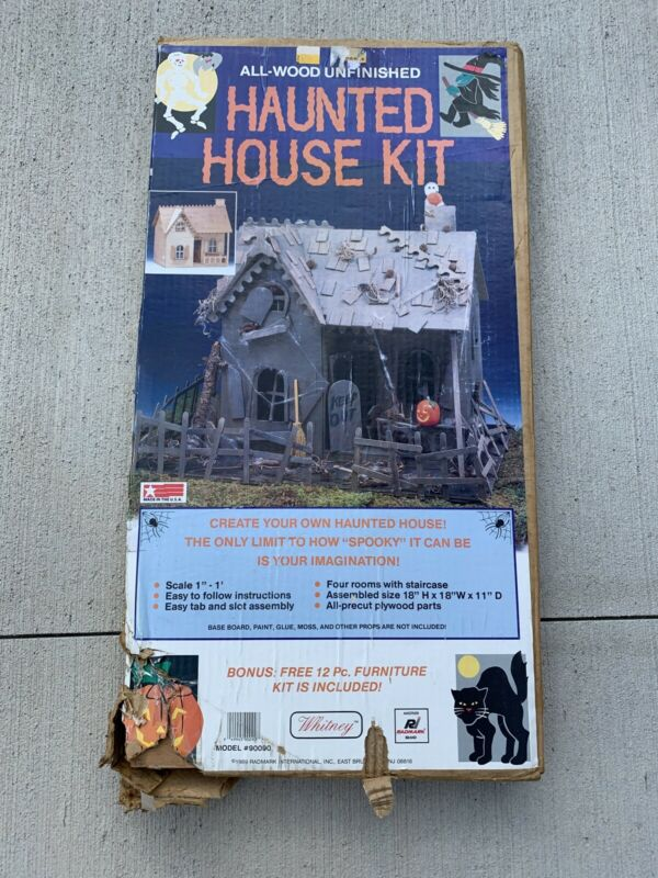 Vintage Halloween Radmark Haunted House Kit Bonus 12pc Furniture Kit All Wood