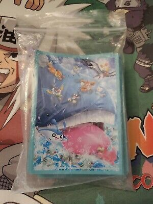 Japanese Pokemon Official Card Sleeves, Wailord (64) Gym Challenge Promo