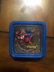 "Marvel Spiderman Spide-Man Kids Boys 2 1/2"" Clock Blue"