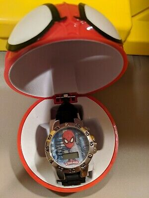 Spiderman Watch-Child's digital watch, with collectible case.