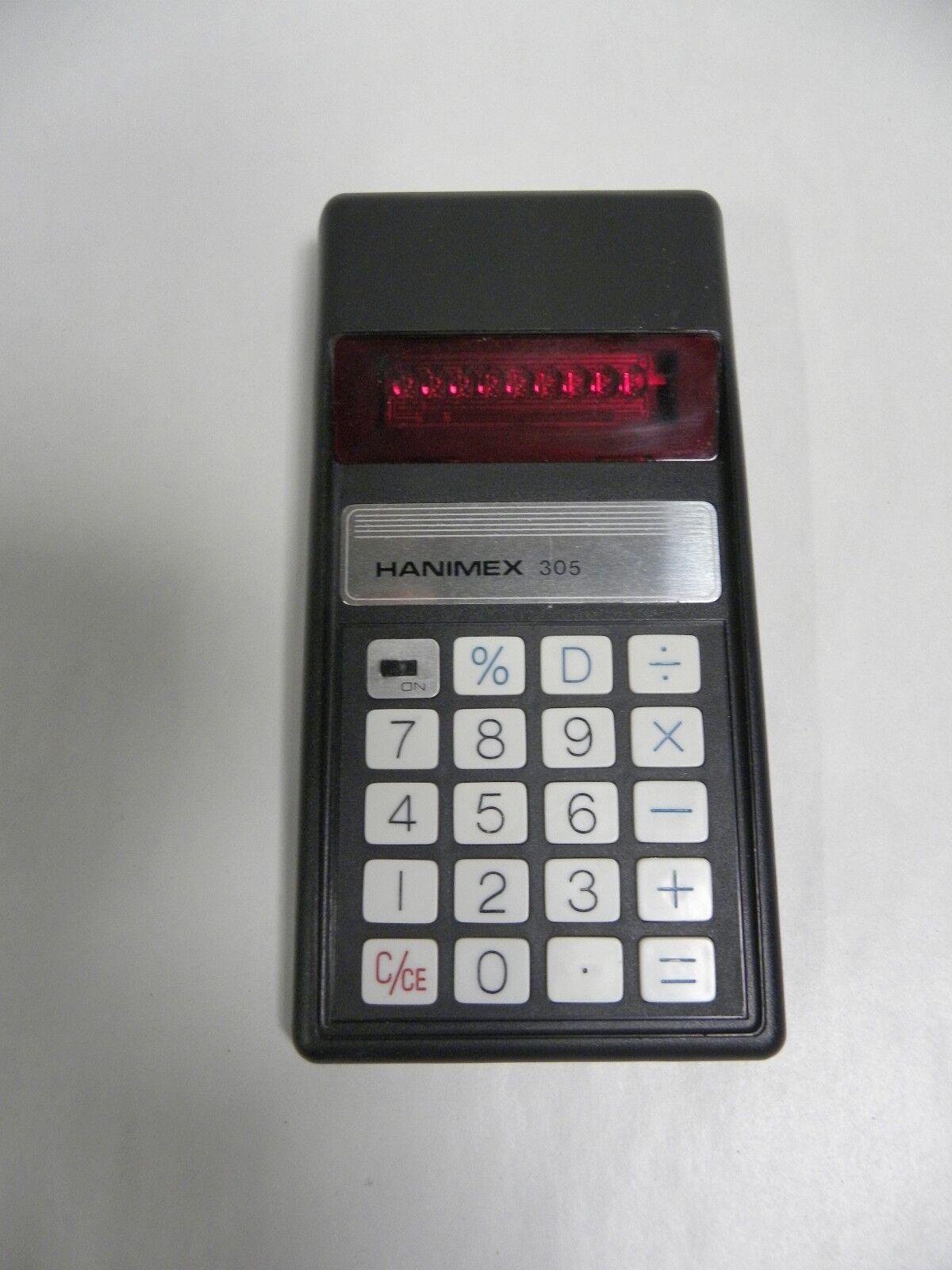 Vintage Hanimex 305 Electronic Calculator (A5)