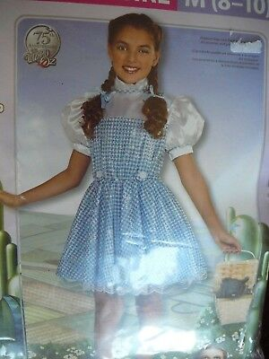 Rubies Wizard of Oz Blue Sequin Gingham Check Dorothy Dress Child M - Dorothy Costume Child