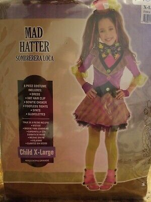 Mad Hatter Child Costume - X-Large - Childs Mad Hatter Kostüme