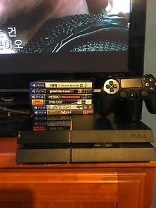 PlayStation 4 with games, controller, all cords and charger Beenleigh Logan Area Preview