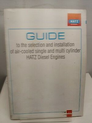 HATZ DIESEL ENGINE GUIDE SELECTION AND INSTALLATION AIR-COOLED & MULTI CYLINDER