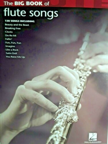 The Big Book Of Flute Songs, 130 Selections, 144 Pages - FREE SHIPPING!