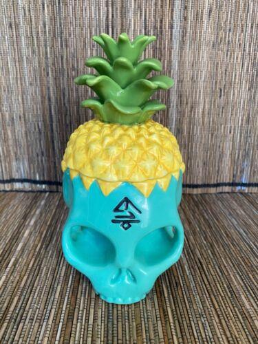 The Grass Skirt Pineapple Skully Tiki Mug 1st Edition SOLD OUT RARE