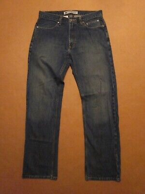 MENS HARLEY DAVIDSON RELAXED FIT STRAIGHT LEG DENIM BLUE JEAN PANTS SIZE 34 X 34