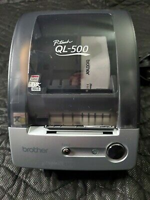 Brother P-touch Ql-500 Thermal Label Printer 2x4 Labels Usb Connection