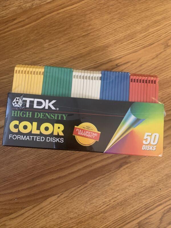 """TDK 3.5"""" Floppy Disks High Density 50 Pack"""