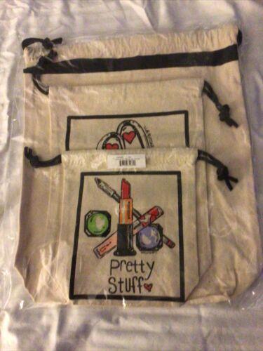 Brighton Spring 3 Pc Travel Set Canvas Bag D30223 NWT - $19.99