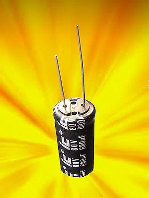 Capacitor    680uf/microfarad    80v/volt   Radial   Elactrolytic   (Quantity 1) ()