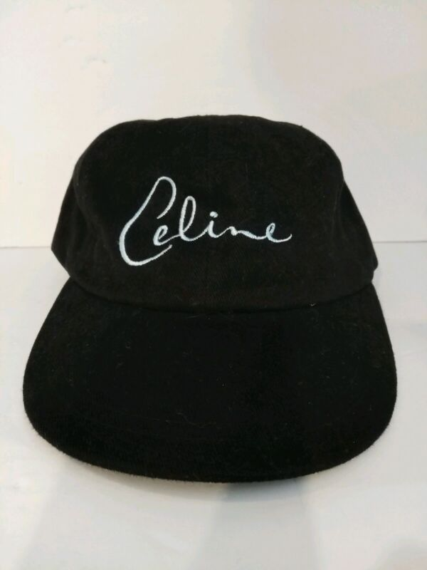 New Age Celine Dion fan elegant black cap hat with leather ajustable buckle