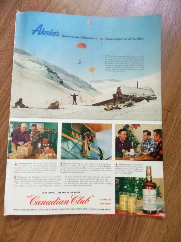 1952 Canadian Club Whiskey Ad Alaska