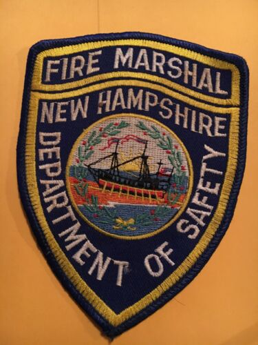 New Hampshire Dept. of Safety Vintage Police Patch Fire Marshal