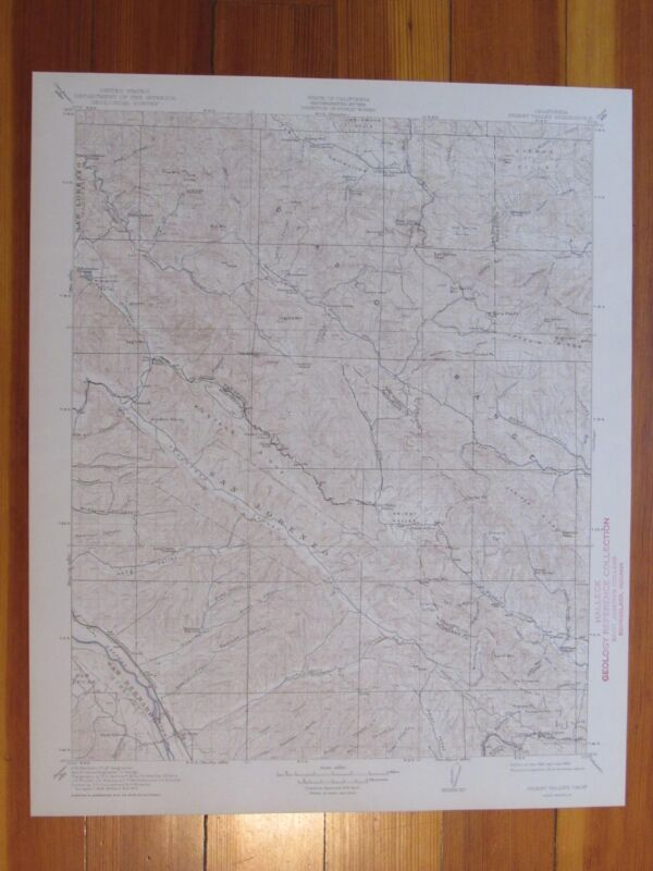 Priest Valley California 1943 Original Vintage USGS Topo Map