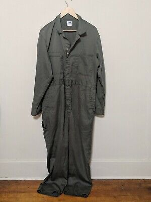 8add1a43948 Lee Union-Alls Army Green Ribbed Coveralls 42 R Talon Zipper Mechanic  Vintage