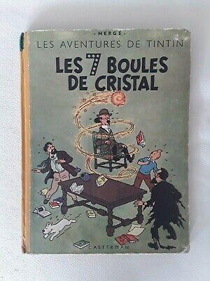 Ancienne BD Tintin Les Sept Boules de Cristal EO B2 1948 Hergé Casterman