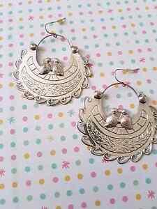 Silver hoop pierced earrings Kotara Newcastle Area Preview