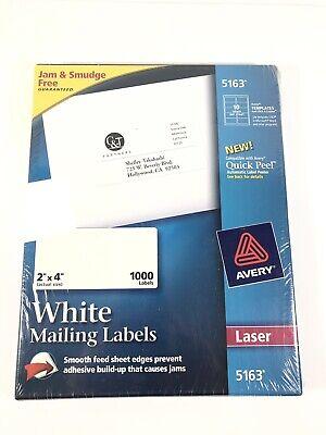 Avery Easy Peel Address Label - 2 Width X 4 Length Permanent 1000 Box
