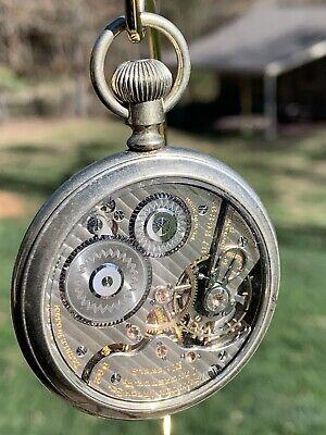 1922 HAMILTON 992 RARE marked MADE IN USA Railroad Pocket Watch w/ Salesman Case