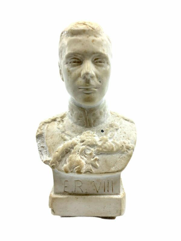 British King Edward VIII Plaster Bust 5.5 Inches Tall